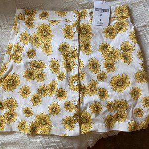 FOREVER 21 Mini skirt yellow floral